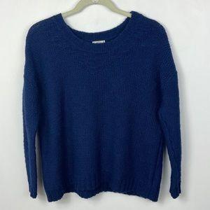 Madewell Wallace Soft Stitch Wool Sweater Blue XS